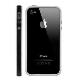 Bumper LUXE blanc et noir pour Iphone 4 et 4S