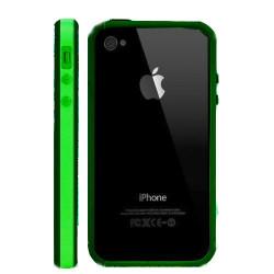 Bumper LUXE verte et noir pour Iphone 4 et 4S