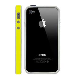 Bumper LUXE jaune et blanc pour Iphone 4 et 4S