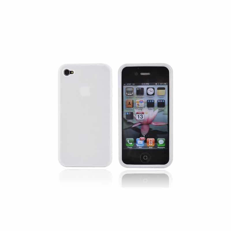 coque silicone blanche pour iphone 4 et 4s. Black Bedroom Furniture Sets. Home Design Ideas