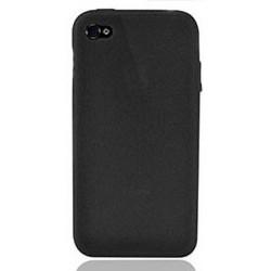 Coque silicone noire pour Iphone 4S