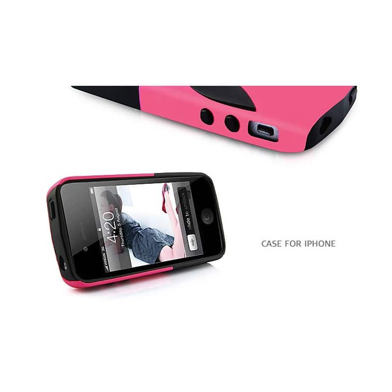 coque alien rose pour iphone 4 et 4s. Black Bedroom Furniture Sets. Home Design Ideas