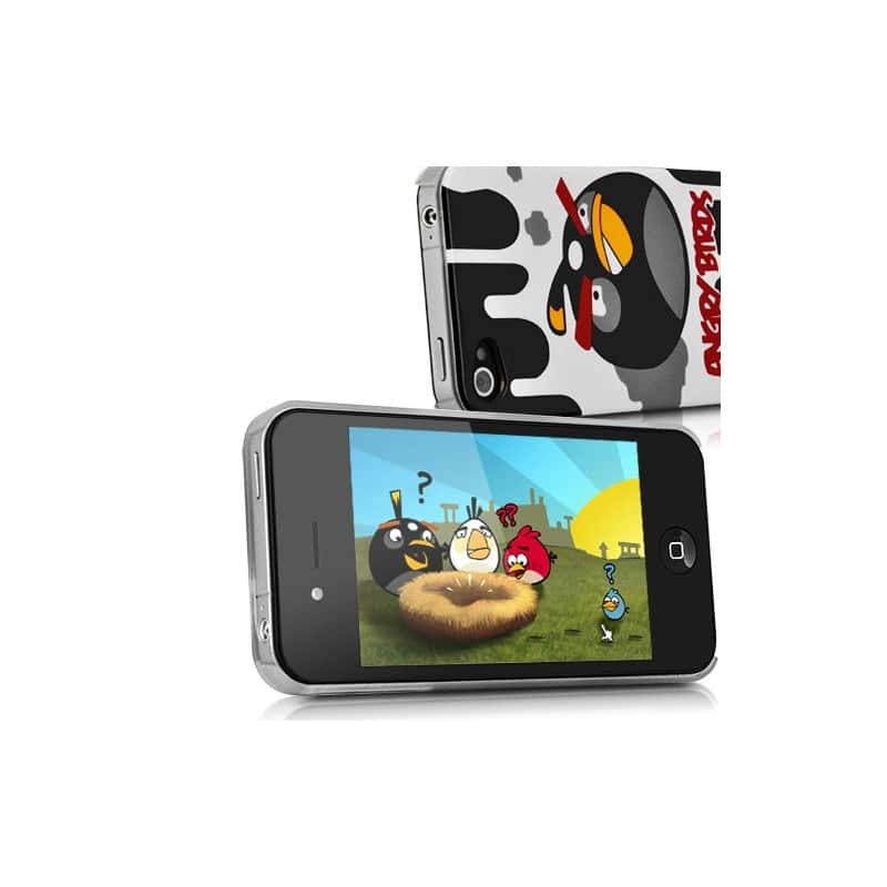 coque angry birds pour iphone 4 et 4s. Black Bedroom Furniture Sets. Home Design Ideas