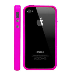 Bumper LUXE rose pour Iphone 4 et 4S
