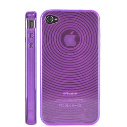Coque SMOKE CIRCLE mauve pour Iphone 4