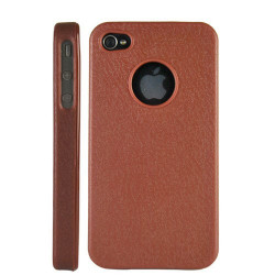 """Coque """" hole """" de couleur marron pour Iphone 4 et 4S"""
