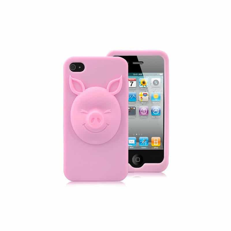 coque 3d pig rose pour iphone 4 et 4s. Black Bedroom Furniture Sets. Home Design Ideas