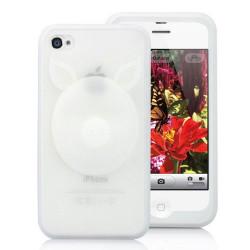 """Coque """" 3D PIG """" blanche pour Iphone 4 et 4S"""