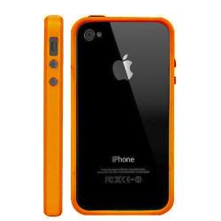 Bumper LUXE orange pour Iphone 4 et 4S