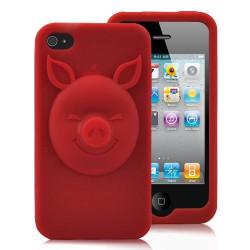 """Coque """" 3D PIG """" rouge pour Iphone 4 et 4S"""