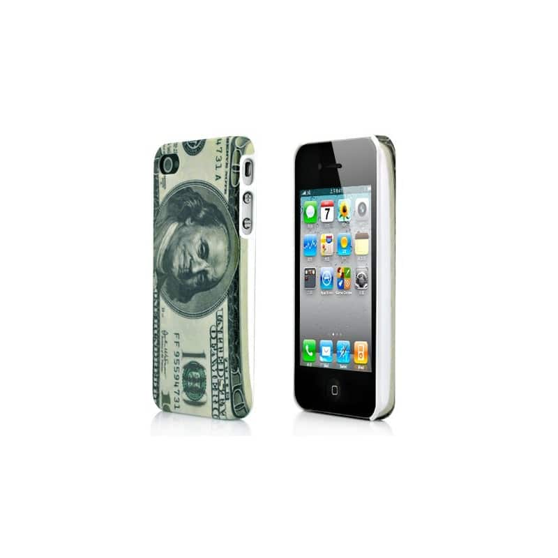 coque dollar pour iphone 4 et 4s. Black Bedroom Furniture Sets. Home Design Ideas
