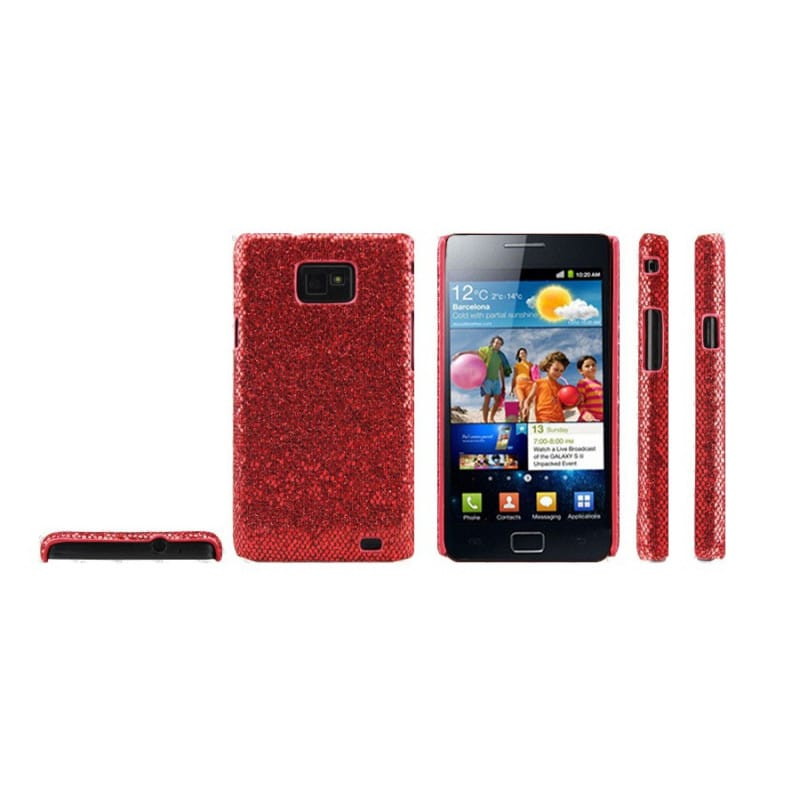 coque disco rouge pour samsung galaxy s2. Black Bedroom Furniture Sets. Home Design Ideas