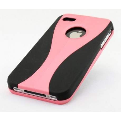 coque noire et rose en deux parties pour iphone 3g et 3gs