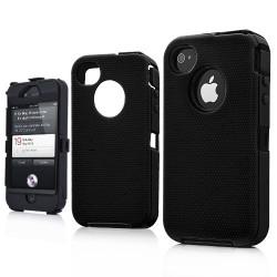 Coque SUPERPROTECT noire pour Iphone 4S