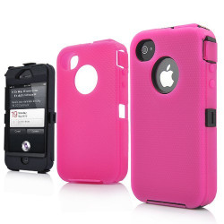 Coque SUPERPROTECT rose pour Iphone 4S