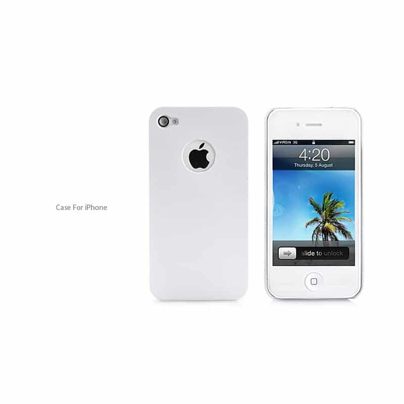 coque ultra slim blanche pour iphone 4 et 4s. Black Bedroom Furniture Sets. Home Design Ideas