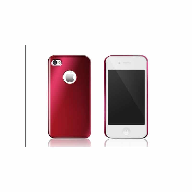 coque aluminium rouge pour iphone 4 et 4s. Black Bedroom Furniture Sets. Home Design Ideas