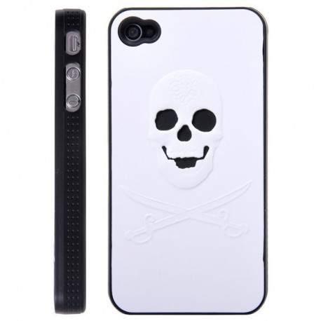 Coque SKULL blanche pour Iphone 4 et 4S