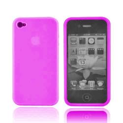 Coque silicone rose pour Iphone 4 et 4S