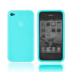 Coque silicone bleue pour Iphone 4 et 4S