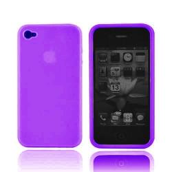 Coque silicone mauve pour Iphone 4 et 4S