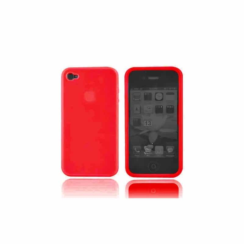 coque silicone rouge pour iphone 4 et 4s. Black Bedroom Furniture Sets. Home Design Ideas