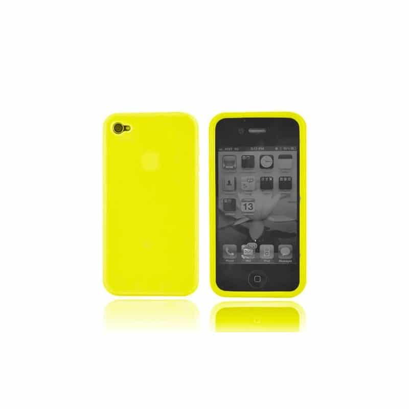 coque silicone jaune pour iphone 4 et 4s. Black Bedroom Furniture Sets. Home Design Ideas