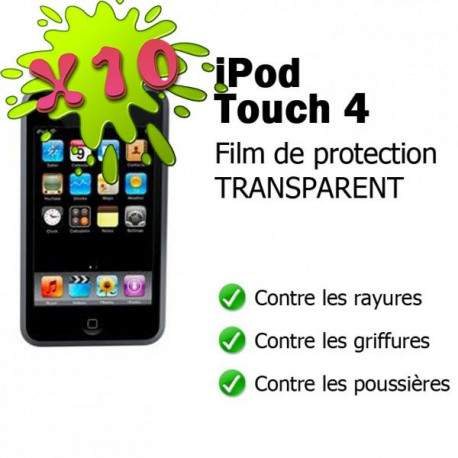 lot de 10 films de protection anti reflets et anti rayures pour ipod touch 4. Black Bedroom Furniture Sets. Home Design Ideas