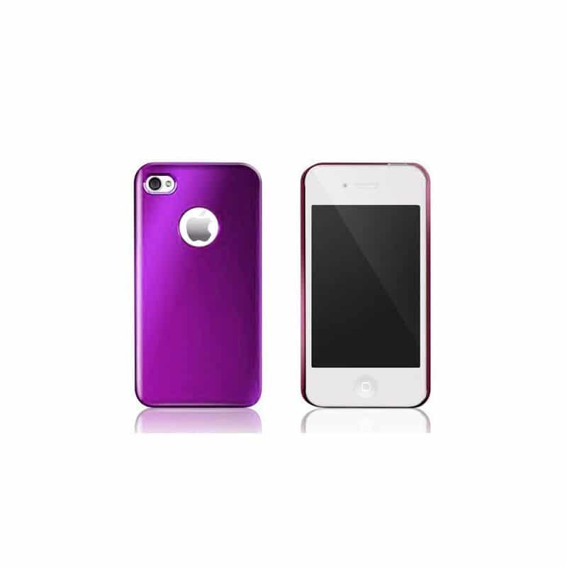 coque aluminium mauve pour iphone 4 et 4s. Black Bedroom Furniture Sets. Home Design Ideas