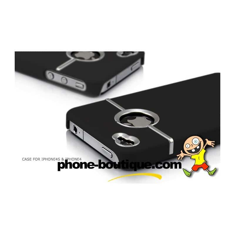coque ultra noire pour iphone 4 et 4s. Black Bedroom Furniture Sets. Home Design Ideas