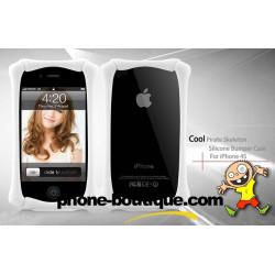 Bulmper SKELETON blanc pour Iphone 4 et 4S