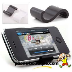 Support S noir pour telephones ou lecteurs Mp3