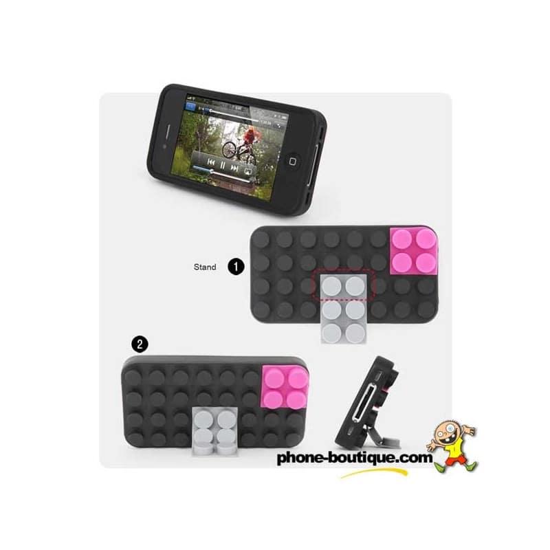 coque lego noire pour iphone 4 et 4s. Black Bedroom Furniture Sets. Home Design Ideas