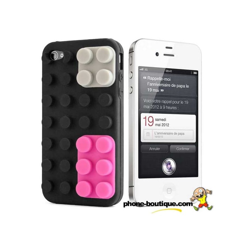 coque lego noire pour iphone 4 et 4s. Black Bedroom Furniture Sets. Home Design Ideas