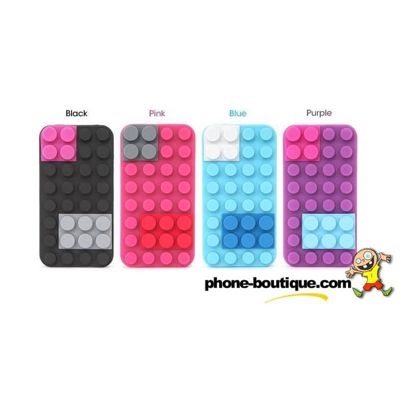coque lego rose pour iphone 4 et 4s. Black Bedroom Furniture Sets. Home Design Ideas