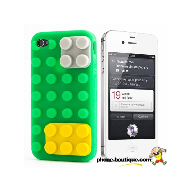 android to iphone coque lego verte pour iphone 4 et 4s 1914