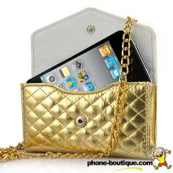 Sac à main LUXE doré pour téléphones portables