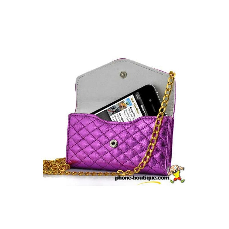 sac main luxe rose pour t l phones portables. Black Bedroom Furniture Sets. Home Design Ideas
