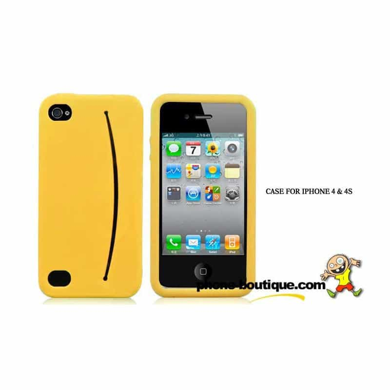 coque smiley jaune pour iphone 4 et 4s. Black Bedroom Furniture Sets. Home Design Ideas