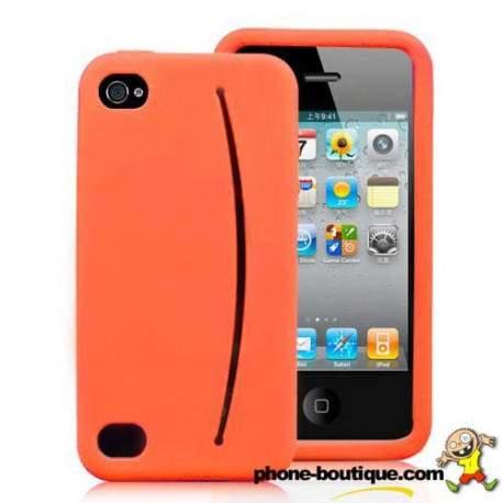 coque iphone 4 orange