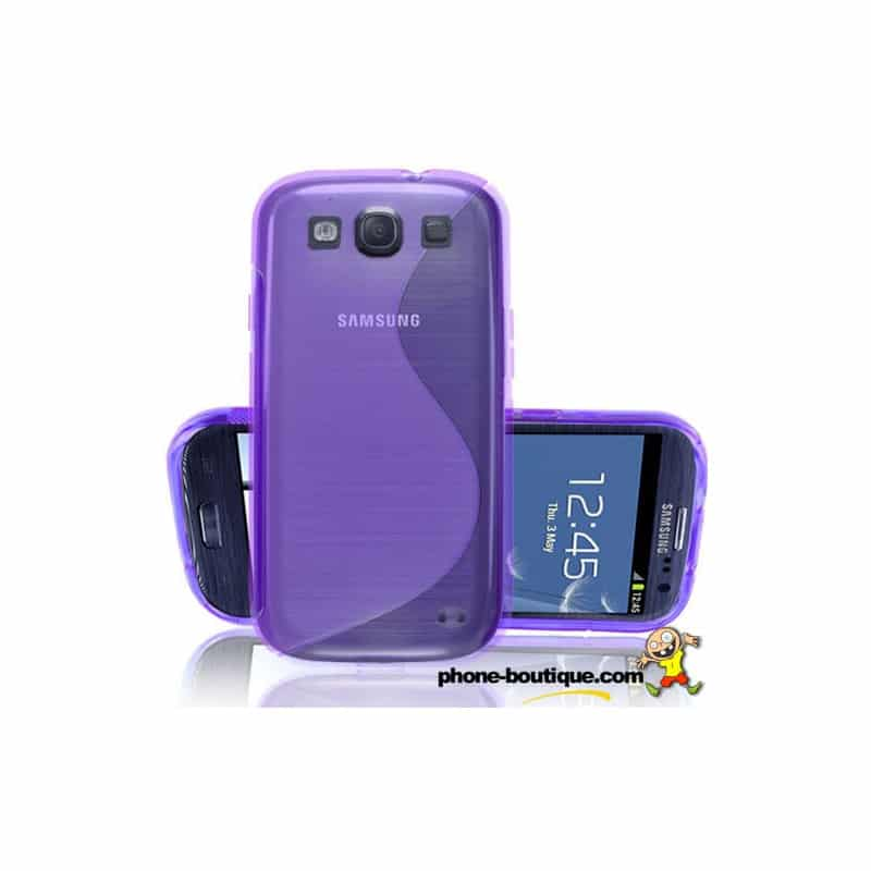 coque mauve s line pour samsung galaxy s3. Black Bedroom Furniture Sets. Home Design Ideas