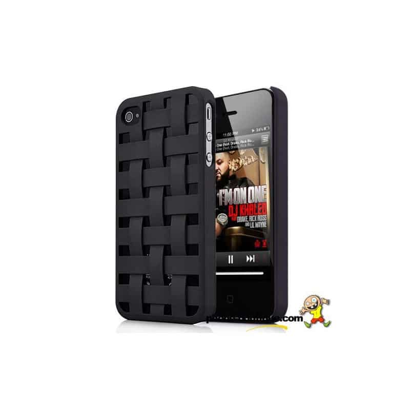 coque tresse 2 noire pour iphone 4 et 4s. Black Bedroom Furniture Sets. Home Design Ideas