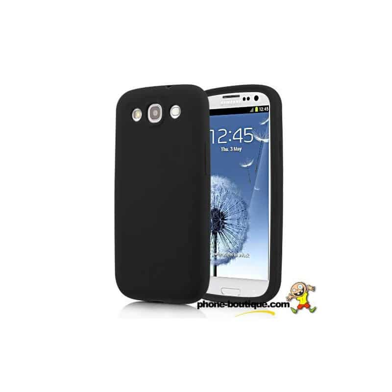coque noire en silicone pour samsung galaxy s3. Black Bedroom Furniture Sets. Home Design Ideas