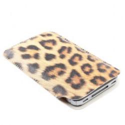 Etui cuir leopard pour téléphones et lecteurs mp3