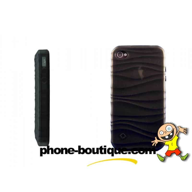 coque water 2 noire pour iphone 4 et 4s. Black Bedroom Furniture Sets. Home Design Ideas
