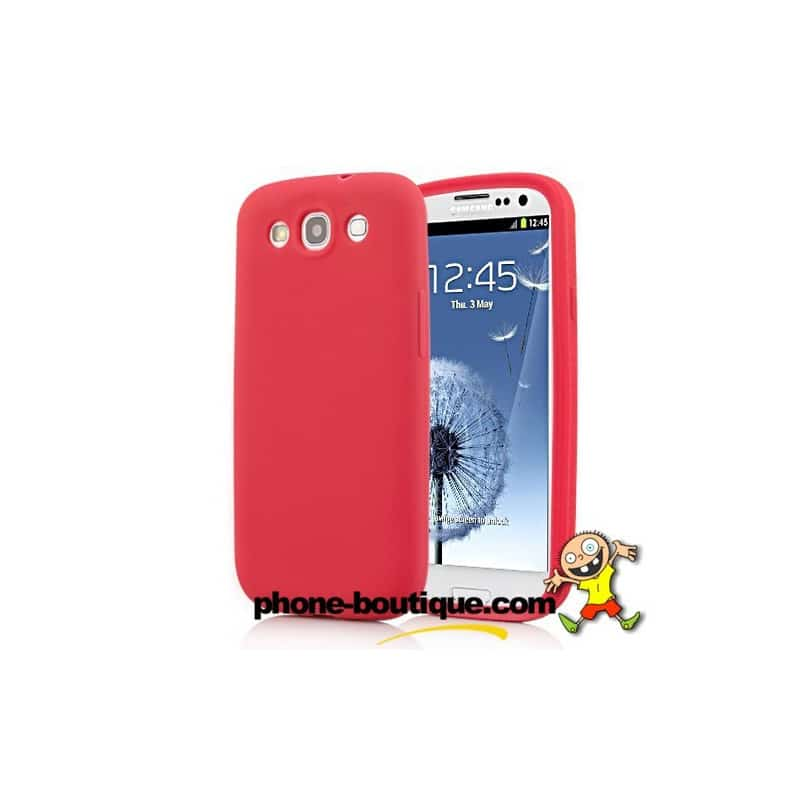 coque silicone rouge pour samsung galaxy s3. Black Bedroom Furniture Sets. Home Design Ideas
