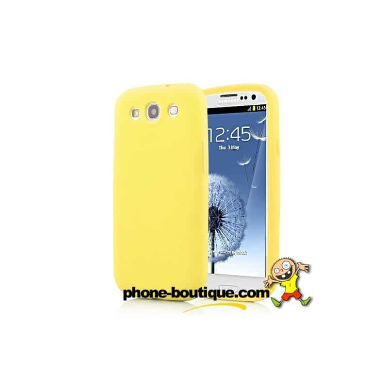 coque silicone jaune pour samsung galaxy s3. Black Bedroom Furniture Sets. Home Design Ideas