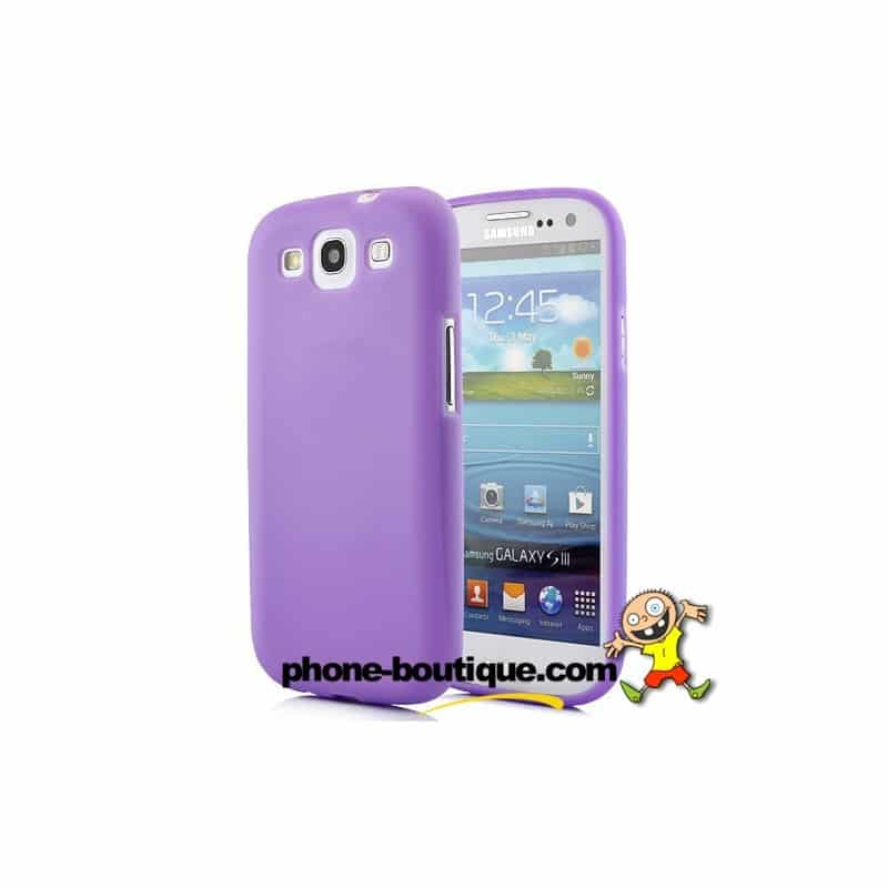coque silicone mauve pour samsung galaxy s3. Black Bedroom Furniture Sets. Home Design Ideas